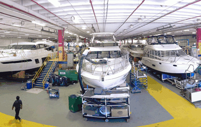 Sea ray 39 s view building a safer parking lot at sea ray for Production builder
