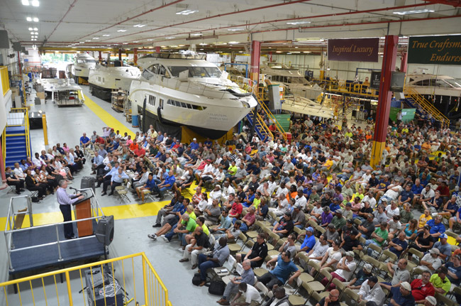 Sea Ray Boats was one of Flagler County's top private employers. It has been a mainstay of the local manufacturing economy. (© FlaglerLive)