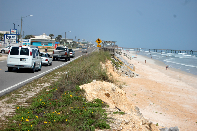 It isn;t just about opposing a seawall. Flagler Beach needs a plan to protect A1A. (© FlaglerLive)