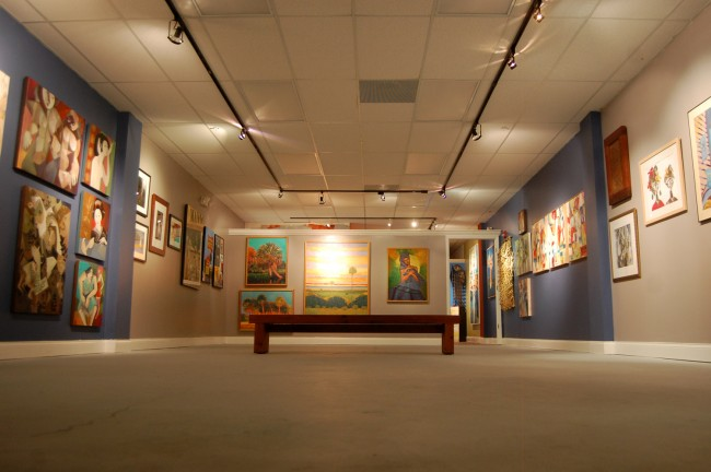 Secca Tree Studios' gallery expands on Hollingsworth gallery's venues for contemporary art. Click on the image for larger view. (© FlaglerLive) j.j. graham