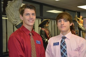 Junior Dalton Bower, left, and Senior Dominick Secor. Click on the image for larger view. (© FlaglerLive)
