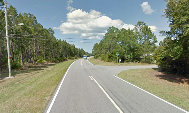 The intersection of Seminole Woods and Sloganeer Trail.