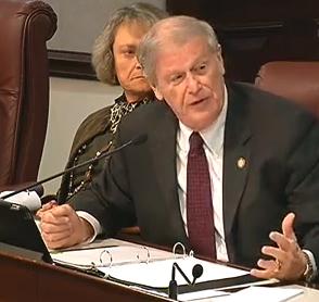 Sen. John Thrasher, who is sponsoring the measure heard in committee Thursday.
