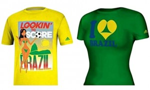 T-shirts withdrawn by Adidas for the Brazil World Cup.