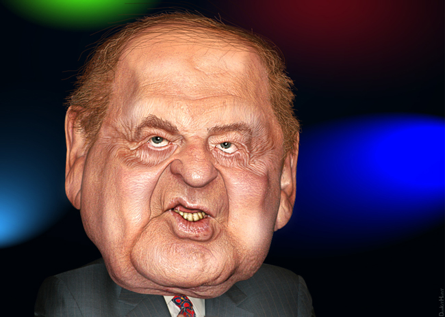 Sheldon Adelson, the money behind the snuffing. (DonkeyHotey)