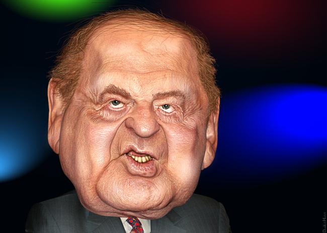 Sheldon Adelson, the money behind the snuffing. (DonkeyHotey)