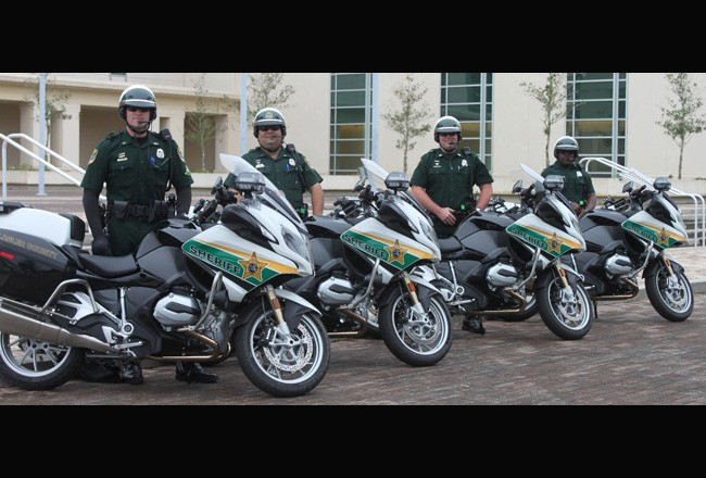 The Flagler County Sheriff's Office's traffic and motor unit and its new BMW bikes.