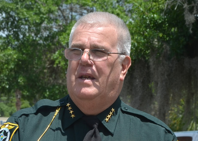 flagler county Sheriff Don Fleming. (© FlaglerLive)
