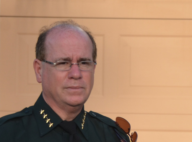 Sheriff Jim Manfre is facing a lawsuit from a long-time employee who claims she was forced to resign after flagging inappropriate spending on dining and entertainment. The sheriff through his attorney 'vigorously denies' the claim. (© FlaglerLive)