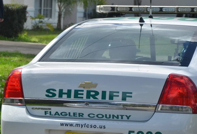 A Flagler County Sheriff's patrol car was burglarized overnight in Palm Coast's B Section. (© FlaglerLive)