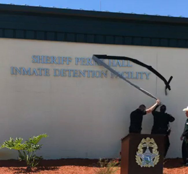 Sheriff on Monday announced the naming of the county jail the Sheriff Perry Hall Inmate Detention Facility. Hall was killed in the line of duty in 2927.
