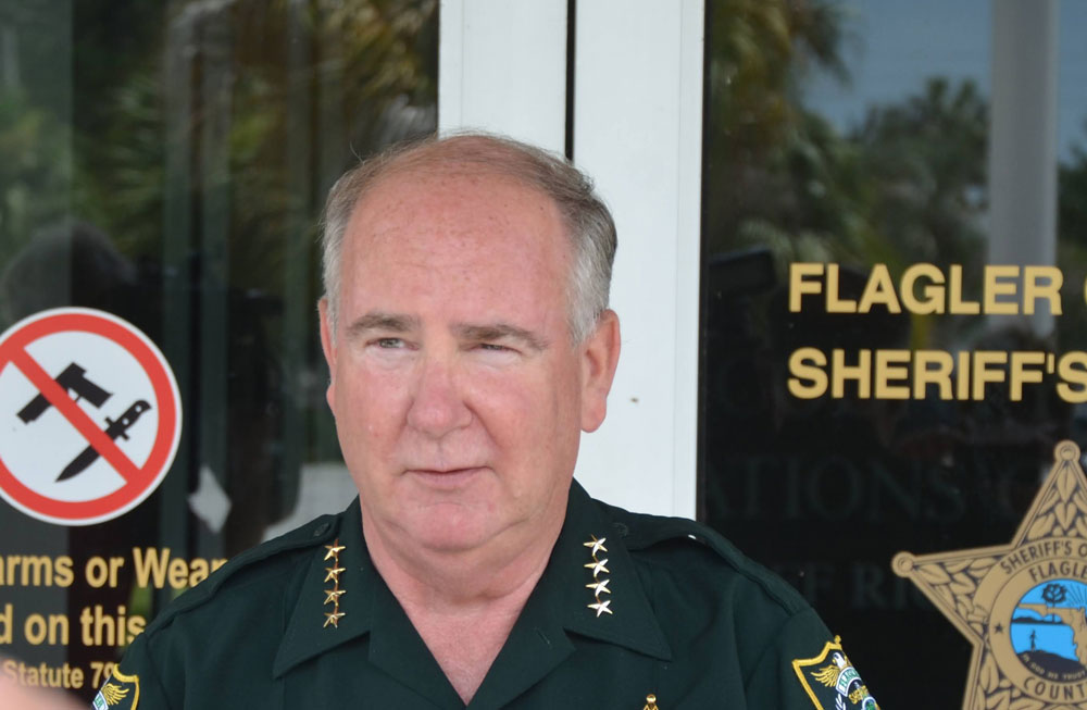 Flagler County Sheriff Rick Staly is the incumbent Republican candidate. (© FlaglerLive)