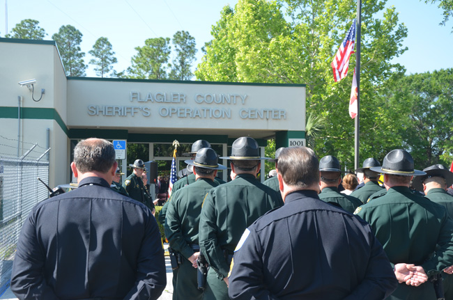 Who has their back? Sheriff's deputies and other employees have been without a substantial raise for five years, and have seen their wages eroded by a 3 percent cut in take-home pay and by inflation. (© FlaglerLive)