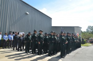 Services drew numerous members of the Flagler County Sheriff's Office and members from other law enforcement agencies across the state. Click on the image for larger view. (© FlaglerLive)