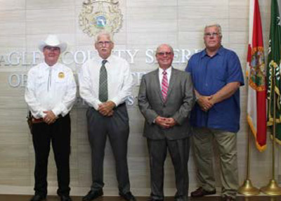 Now to then: from left, Sheriffs Rick Staly, Dan Bennett, Jim Manfre and Don Fleming. (FCSO)
