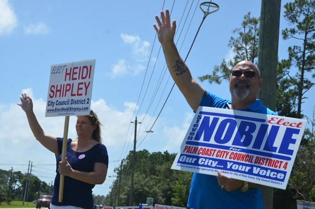 steven nobile heidi shipley raises palm coast city council