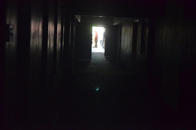There was little light at the end of the tunnel for sheriff's Operations Center, where more than two dozen employees are reporting health issues. Above, the building as seen from within before it was rebuilt. (© FlaglerLive)