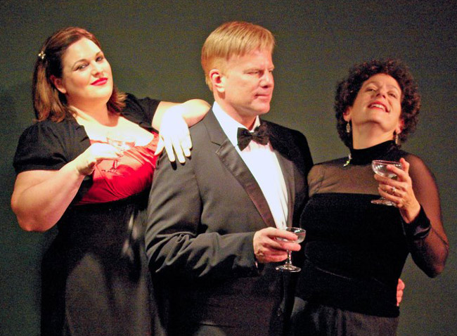 From left, Kelly Nelson, Lloyd Bowers and Julia Davidson Truilo in 'Side By Side By Sondheim,' at Palm Coast's City Repertory Theatre beginning Jan. 18.