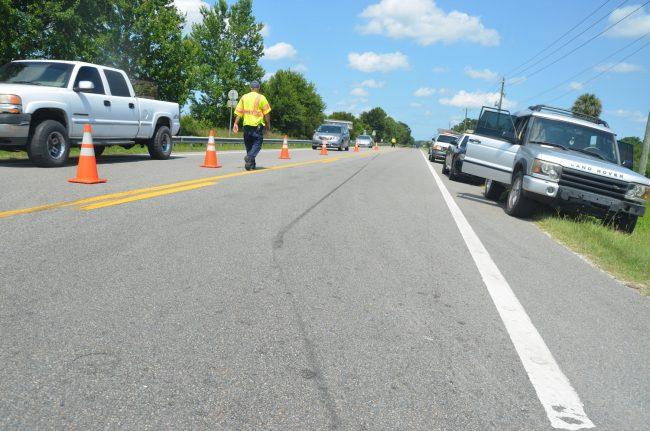 skid marks traffic crash