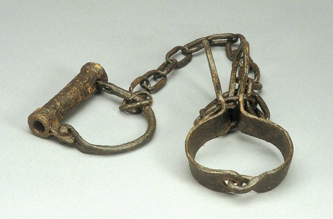 Founding shackles. (National Museum of American History)
