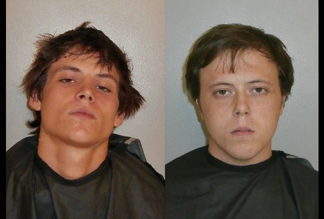 Matthew Smith, 18, left, and Matthew Morris, 20, are implicated in the shooting of Trevor Blumenfeld on Llovera Place Monday night.