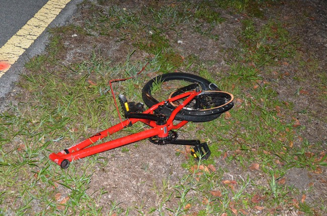 One of Flagler's numerous wrecks involving bicycles took the life of 15-year-old Kirt Smith on Seminole Woods Blvd. in 2011. (© FlaglerLive)