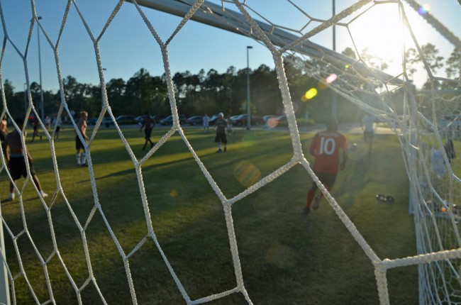 Palm Coast scores a crucial goal. Click on the image for larger view. (© FlaglerLive)