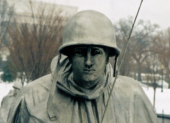 Detail from the Korean War Memorial in Washington, D.C. (© FlaglerLive)