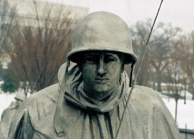 Detail from the Korean War Memorial in Washington, D.C. (© FlaglerLive)