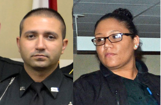 Mark Sousa, left, and Laura Gadson. (FCSO and © FlaglerLive)