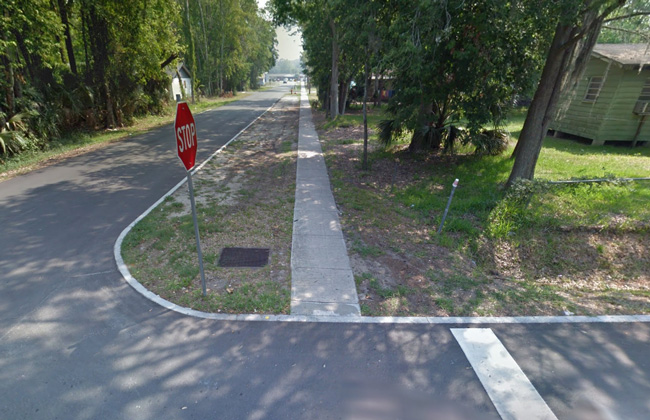 The area of South Cherry and Martin Luther King Boulevard in Bunnell where the shooting took place.