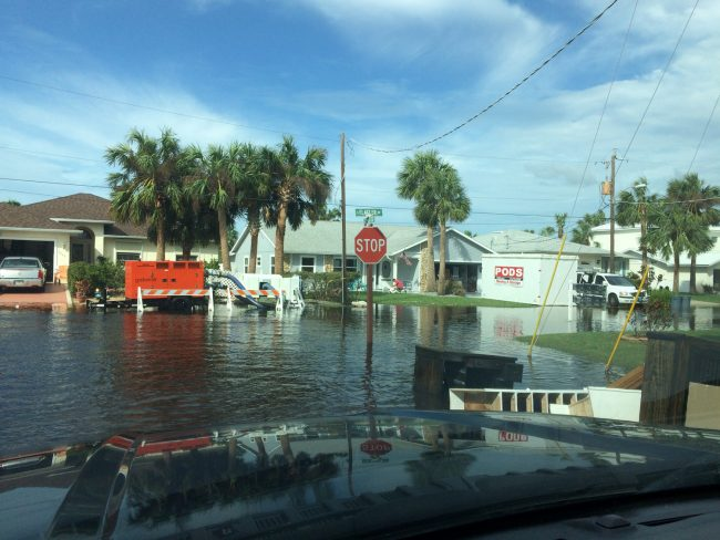 On South Flagler Avenue in Flagler Beach. (c FlaglerLive)