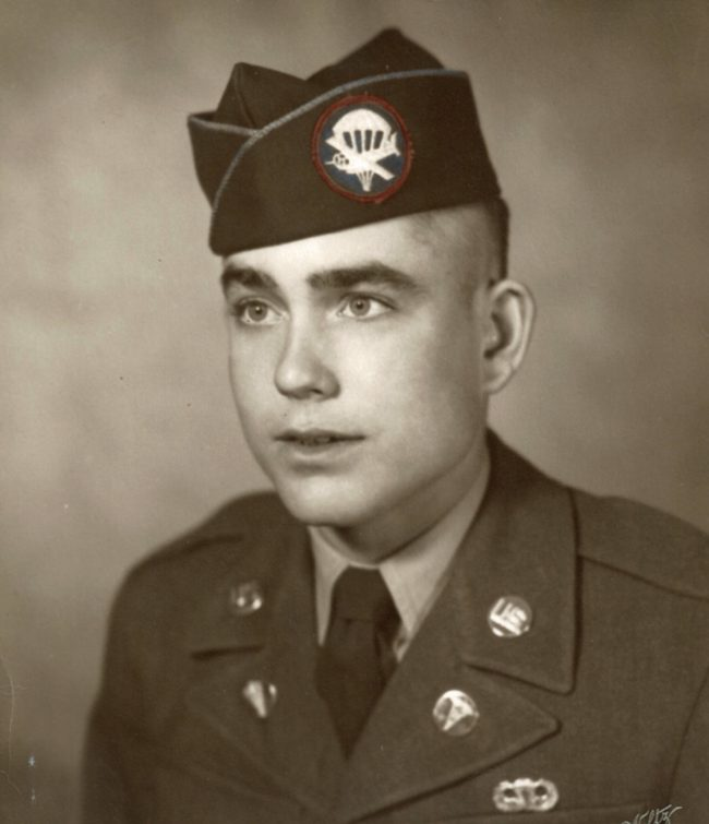 Cecil Sowell in his paratrooper days.