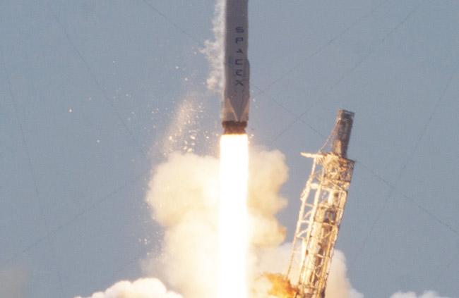 space x rocket debris
