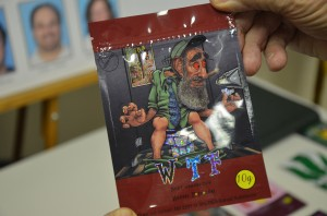 One of the empty packets seized today. Click on the image for larger view. (© FlaglerLive)