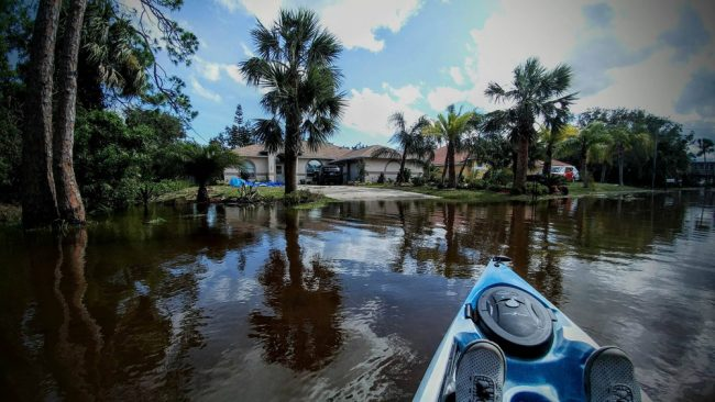 The view from Scott Spradley's canoe in Flagler Beach this afternoon. (Scott Spradley)