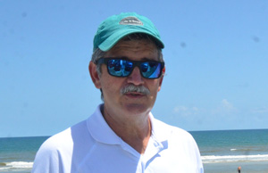 Scott Spradley on a sunnier day in Flagler Beach. (c FlaglerLive)