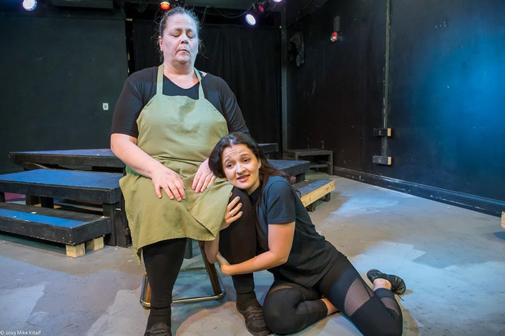 """Agata Sokolska is Wendla and Tracey Chiriboga is one of the adult women in the City Repertory Theatre production of """"Spring Awakening,"""" the Tony-winning musical based on a 1891 drama by German playwright Frank Wedekind. The play runs Oct. 25-Nov. 10. Photo by Mike Kitaif"""