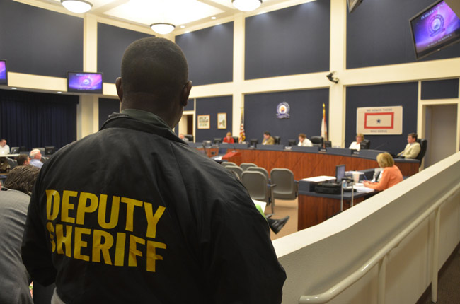 The Flagler school board approved a $281,000 contract with the Sheriff's Office to spread six deputies between the district's 11 schools. (© FlaglerLive)