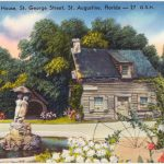 A postcard of one of the oldest schoolhouses in the country, in St. Augustine, pre-vouchers. (Boston Public Library)