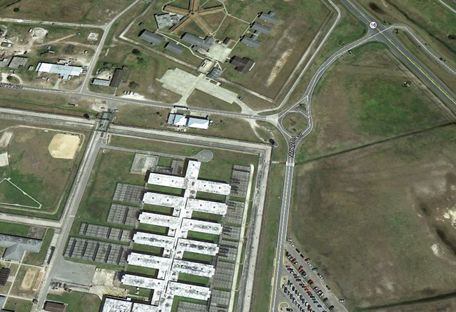 The Starke Florida prison complex, where death row inmates are put to death. (Google Earth)