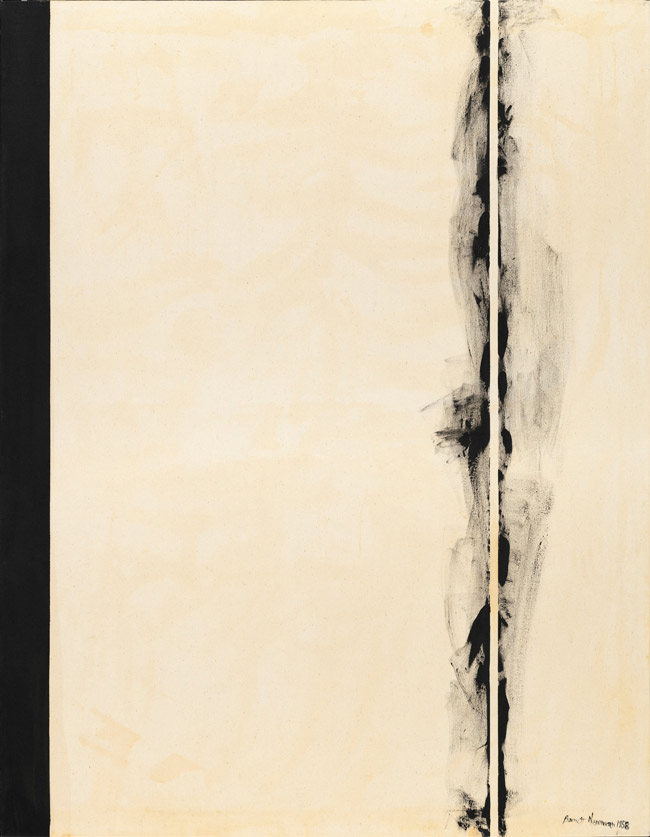 First Station from Barnett Newman's 'The Stations of the cross' (1958)