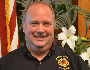 Stephen Palmer, president of the Flagler County Professional Firefighters Association