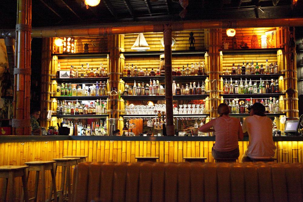 Socially-distanced drinking. (Steven Miller)