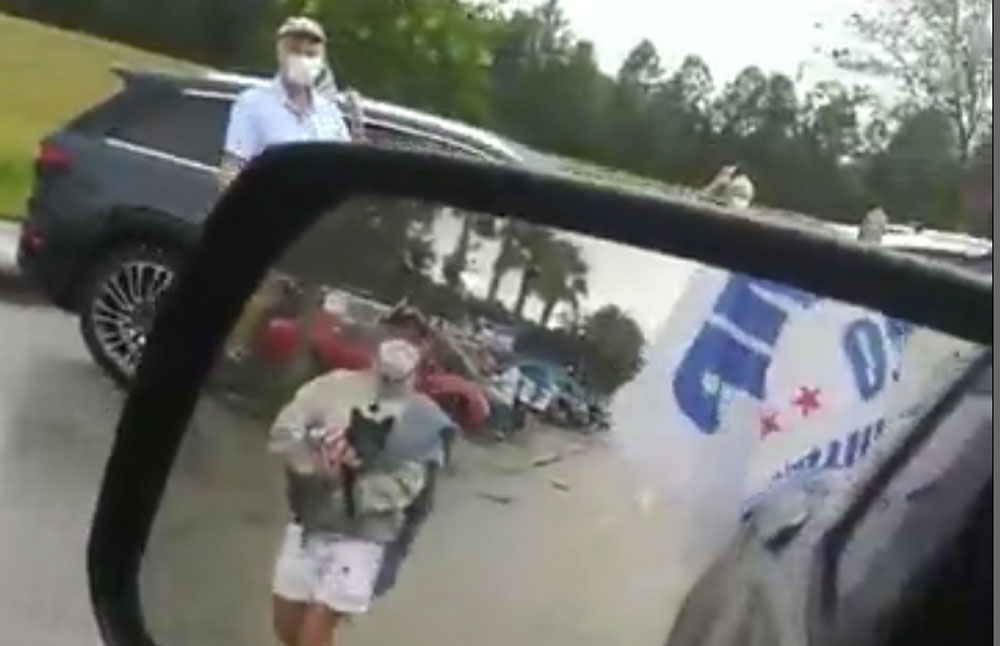A still from Chris Feeney's Facebook video that drew the sheriff's attention.