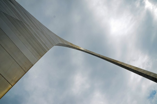 The St. Louis Arch, one of many symbols of American exceptionalism. Click on the image for larger view. (© FlaglerLive)