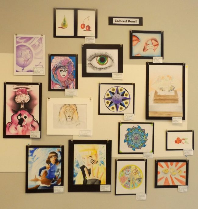 A highlight of FCAL's exhibitions is its annual student art show. Here are works from the 2015 exhibit. (© FlaglerLive)
