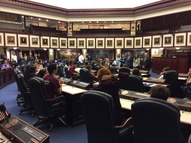 Students from Marjory Stoneman Douglas High School faced legislators today, demanding action, but got few assurances. (News Service of Florida)