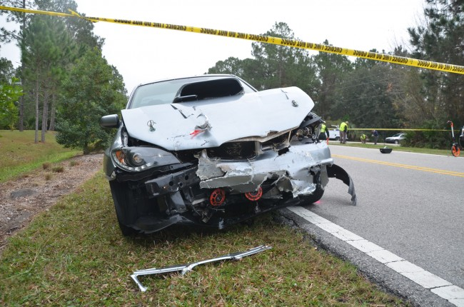 The Subaru that rear-ended the Mazda. (c FlaglerLive)