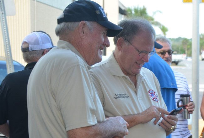 Commissioners Dave Sullivan, left, and Greg Hansen were looking to ban medical pot in unincorporated Flagler County. They failed. (© FlaglerLive)